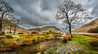 Beck into Crummock Water.