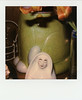 agnes-of-god (kaumpphoto) Tags: polaroid 680 instant green nun white orange ceramic pattern face agnesofgod