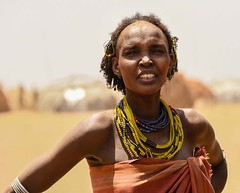 Dassanech Woman (Rod Waddington) Tags: africa african afrique afrika kenya kenyan omo omovalley outdoor omoriver outdoors dassanech tribe traditional tribal woman beads village huts portrait candid culture cultural ethnic ethnicity