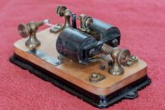 DSCF4219.jpg (RHMImages) Tags: morsecode xt2 radios benicia bug fuji key restoration historic fujifilm hamradio