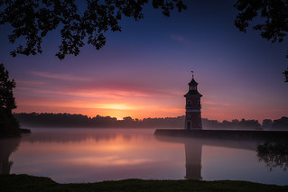 sunrise at the light house of Moritzburg