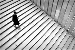downslope (bostankorkulugu) Tags: milan milano lombardy lombardia italy italia triennale woman stairs latriennaledimilano