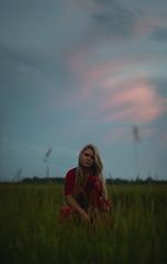 Sunset field (joshhansenmillenium) Tags: long exposure longexposure nikon nikond5500 d5500 nifty50 50mm modeling photography freelance sunset sunsets clouds kentucky tunnels night time moody lightpainting painting