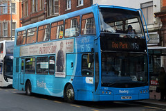 YN57 FXB, Friar Street, Reading, February 17th 2017 (Southsea_Matt) Tags: yn57fxb 842 route15 skyblue friarstreet reading berkshire england unitedkingdom canon 80d sigma 1850mm march 2017 spring eastlancs olympus scania n230ud readingbuses bus omnibus passengertravel publictransport vehicle