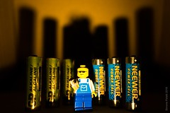 got the power (simone.pelatti) Tags: lego minifigure battery energy power hardlight contrast yellow blue shadow dark