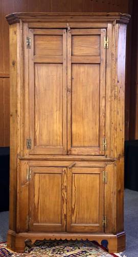 Early Pine Blind Door Corner Cupboard w/ Butterfly Shelves ($1,232.00)