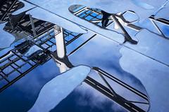 Reflections, Centre Georges de Pompidou, Paris (jonasfj) Tags: nikond750 35mm 3514g nikkor paris centregeorgespompidou france museum art exhibition outdoors reflections waterpuddle floor rain architecture abstract