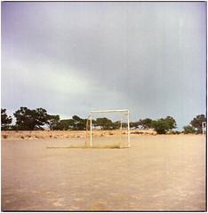 .there is nothing more true or natural than wanting to win (Herr Benini) Tags: rete calcio fussball soccer tor kiev88 analog film 6x6 mediumformat marokko morocco afrika africa imsouane