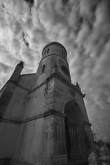 Church (Stueyman) Tags: sony alpha ilce za zeiss sel1635z sky clouds church bw blackandwhite noiretblanc lifou newcaledonia loyaltyislands