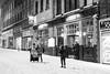 let it snow... (Vladimir Barvinek) Tags: snow winter street storm people happy exeter devon snowstorm blizzard season magical stormemma beastfromtheeast blackandwhite