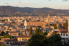 Santa Croce during sunset (concordia97) Tags: italy italien tuscany toscana toskana florenz florence santa croce firenze church kirche basilica abbey abtei kloster sunset sonnenuntergang