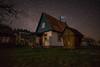 Starry House (free3yourmind) Tags: stars starry house grass nature milky way night sky nightsky dark skies fireplace smoke cottage braslav braslaw belarus