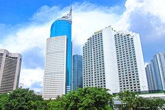 building and green trees (harrypwt) Tags: harrypwt jakarta indonesia city canons95 s95 skyscrapers cityscape