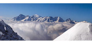 Mont Blanc Massif from Verbier.No. 0141 142 143 144 145 146 147 Panorama 10 final. 21.03.18, 13:07:06 .