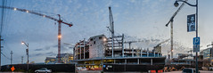 chase center progress (warriors arena) 4.25.18 (pbo31) Tags: sanfrancisco california nikon d810 color april 2018 spring boury pbo31 missionbay panoramic large stitched panorama warriors basketball nba chase center construction crane sky sunset sport