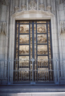 San Francisco - California - Grace Episcopal Cathedral - Cast from Lorenzo Gheberti's - Door of Paradise on Florence  Baptistry