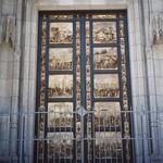 San Francisco - California - Grace Episcopal Cathedral - Cast from Lorenzo Gheberti's - Door of Paradise on Florence  Baptistry thumbnail