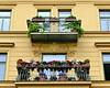 Balconies (Colorado Sands) Tags: flowers building flowerboxes sandraleidholdt munich germany allemagne allemande architektur architecture balcony german alemania europe 1895 münchen