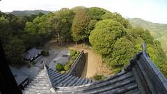 Castle vN _wde_LG (Hazbones) Tags: iwakuni yamaguchi yokoyama castle kikkawa suo chugoku mori honmaru ninomaru demaru wall armor samurai spear teppo gun matchlock map ropeway