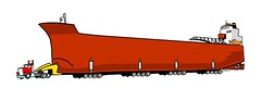 big paul stretch (DSL art and photos) Tags: greatlakes freighter cartoon ship anthropomorphic boat cargo shipping donlee paulrtregurtha interlake tractor trailer semi portage footer