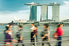 Singapore icon (skweeky ツ) Tags: singapore singapour marina bay sands hotel walk front low speed blurry slow bayfront
