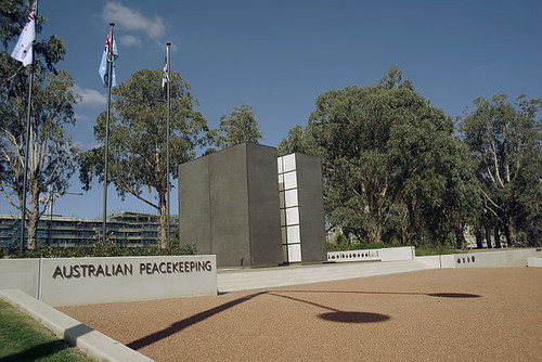 Peacekeepers' Memorial, Anzac Parade, Canberra, ACT, Australia