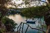 Atardecer sobre Cala de Sant Esteve (estebanjvr) Tags: caladesantesteve illesbalears españa es menorca spain atardecer sunset crepúsculo barca boat cala creek