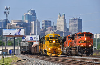 KCT and BNSF Trains in Kansas City, MO