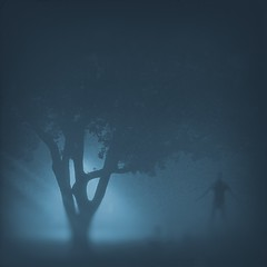 Surrender (Splatito8127) Tags: abstract boy model blue composite art concept conceptual morning fog