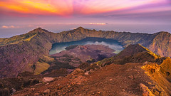 Mt.Rinjani (loliloop) Tags: rinjani mount indonesia lombok summit volcano active mountain landscape lake sunrise background view island nature blue sky travel holiday park national tropical forest cloud high hiking trekking crater beautiful gunung outdoor hike sun tourism asia scenic sunlight hill adventure peak climbing backpack traveler