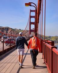 Lovers on the Golden Gate Bridge (thomas_chaffaut) Tags: gay love golden gate bridge san francisco california usa