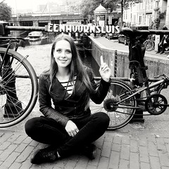 UnicornLock (BphotoR) Tags: daughter amsterdam blackwhite bicycles lock eenhoornsluis einhornschleuse unicornlock unicorn netherlands