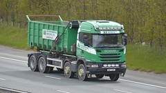 NK17 UEN (panmanstan) Tags: scania wagon truck lorry commercial bulk waste recycling freight transport haulage rigid vehicle a1m fairburn yorkshire