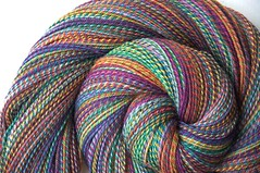 twf swmn th swirl3 (thing4string) Tags: spin spinning handspinning handspun yarn wool superwash merino nylon threewatersfarm 3ply sock fingering
