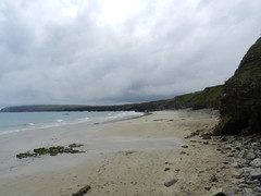 Port of Ness Beach, Ness, Isle of Lewis, June 2016 (allanmaciver) Tags: port ness beach island lewis western isles outer hebrides sand sea shore wet damp clouds swirl grey seaweed low view walk enjoy allanmaciver