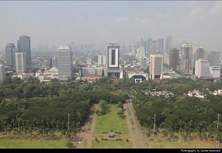 View from Monas, Jakarta, Java, Indonesia