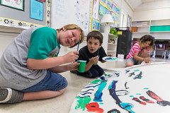 Fun Tim Painting Together