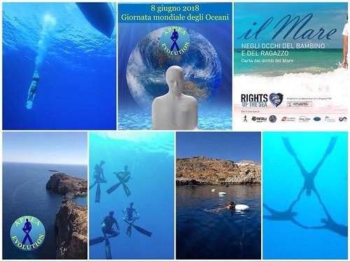 #worldoceansday 8 giugno in arrivo ! #ApneaEvolution #love #sea #freedive www.rightsofthesea.org www.apneaevolution.it