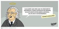 Kenneth Boulding: La locura del economista (Hackobo.com.ar) Tags: hackobo historietas cita frase comic humor consumismo capitalismo