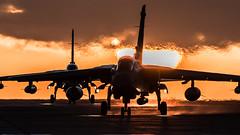 Primus Flight (Steve Cooke-SRAviation) Tags: 15sqn panavia raf 500mm tornadogr4 sunset stevecooke marham lightningll tornado sraviation 31sqn canon 100400mm 5d4 tonka
