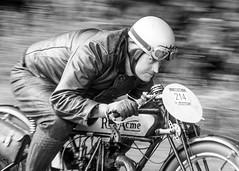 Determination! (bp-122) Tags: speed kophillclimb bike classic monochrome rider helmet focused close up panning shot acme buckinghamshire 2017 hill climb fast motoring automotive motorsport throttle speedster vintage petrolhead gearhead octane