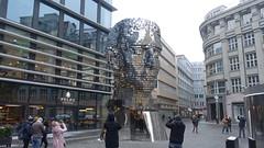 Franz Kafka Statue by David Černý, Quadrio, Nové město, Prague (David McKelvey) Tags: 2018 europe czech republic prague praha novéměsto quadrio shopping centre franz kafka statue