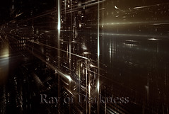 Ray of Darkness (Luc H.) Tags: ray darkness graphic graphism abstract abstrait fractal digital town building city