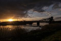King George V Bridge or as the Locals Call it Keadby Bridge , 26-4-2018 (Bri Hall) Tags: keadby keadbybridge rivertrent kinggeorge kinggeorgevbridge sunset