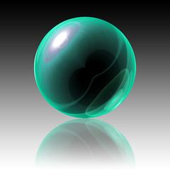Green Sphere (myphotomailbox) Tags: art green sphere photoshop creations macro bol groen