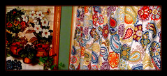 dichotomy (milomingo) Tags: frame photoborder multicolored pattern painting textile fabric paisley abstract linear