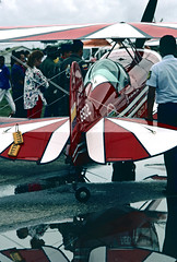 Venezuelan Air Force, Pitts aerobatic display a/c, 1987 (nielsamd) Tags: pitts s2 piarco airshow force air venezuelan fav fuerzaaereavenezolana