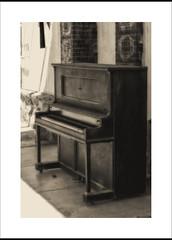 Piano (DJ Wolfman) Tags: blackandwhite bw piano old antique sepia olympus olympusomd em1markii zuiko 12100mmf4zuiko zd pawhuska oklahoma