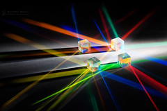 Cubism (RichardBeech) Tags: cube lightart abstract colours colourful colour vibrant light refraction prism physics whitelight torch glass art artistic creative creativephotography indoor tabletop lines angles cubism canon canon5dmarkiii canon24105mm