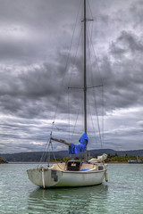 Cal 20 Sailboat (Paul Rioux) Tags: marine sailboat boat vessel water ocean sea clouds storm cooperscove sooke bc outdoors prioux cal20